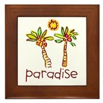 Kid Art Paradise Framed Tile