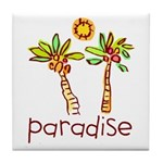 Kid Art Paradise Tile Coaster