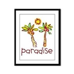 Kid Art Paradise Framed Panel Print