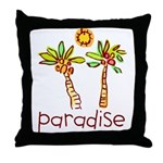 Kid Art Paradise Throw Pillow