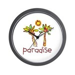 Kid Art Paradise Wall Clock