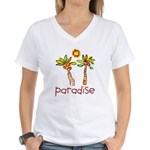 Kid Art Paradise Women's V-Neck T-Shirt