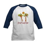Kid Art Paradise Kids Baseball Jersey