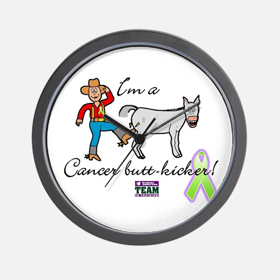 cancer butt kicker Wall Clock