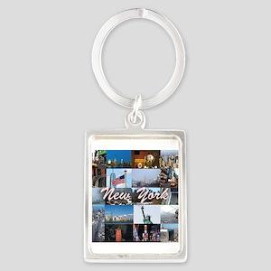 New York Pro Photo Montage-Stunn Portrait Keychain