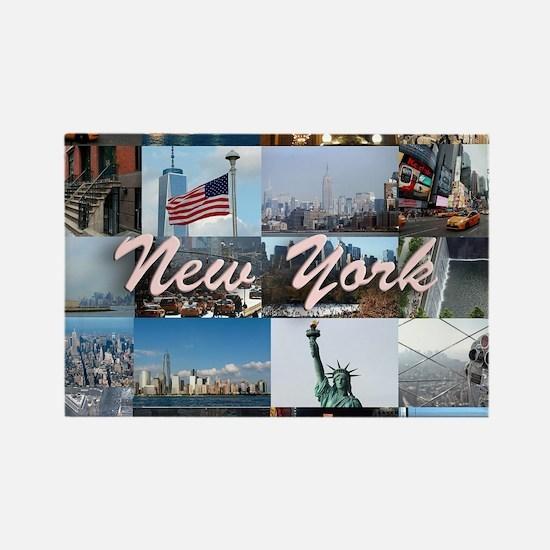 New York Pro Photo Montage-Stunni Rectangle Magnet
