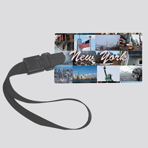 New York Pro Photo Montage-Stunn Large Luggage Tag