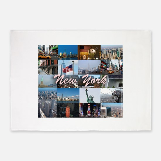 New York Pro Photo Montage-Stunning 5'x7'Area Rug