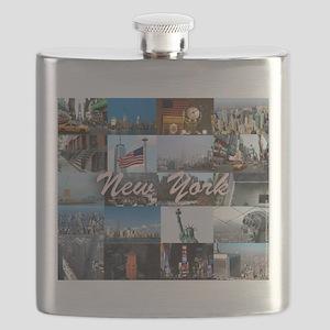 New York Pro Photo Montage-Stunning! Flask