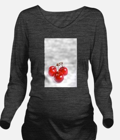 red white cherries p Long Sleeve Maternity T-Shirt