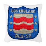 USS ENGLAND Woven Throw Pillow