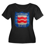 USS ENGL Women's Plus Size Scoop Neck Dark T-Shirt