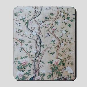 antique floral pastel wallpaper Mousepad