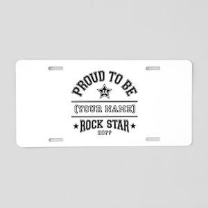 Family Rock Star Aluminum License Plate