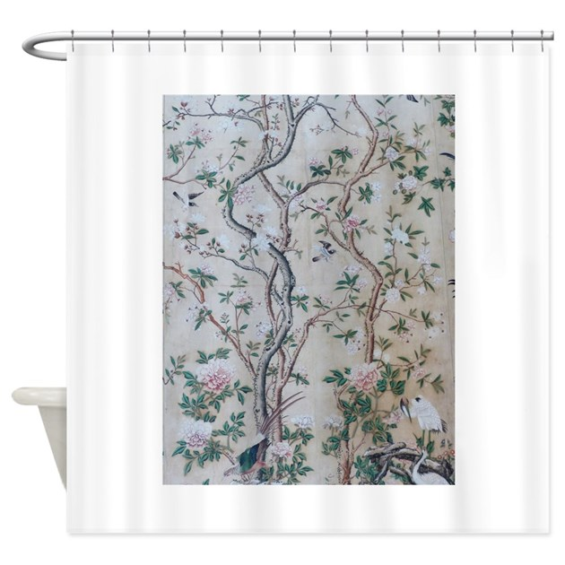 antique floral pastel wallpaper shower curtain by admin 87973