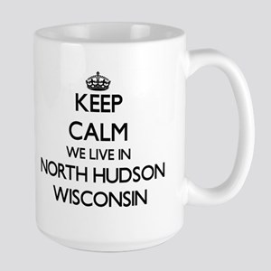 Keep calm we live in North Hudson Wisconsin Mugs