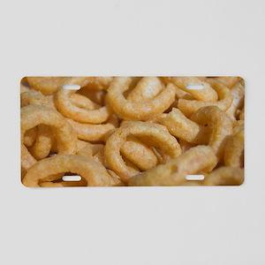 onion rings photo Aluminum License Plate