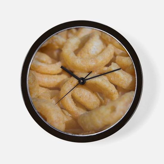 onion rings photo Wall Clock