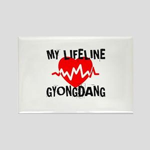 My Life Line Gyongdang Rectangle Magnet