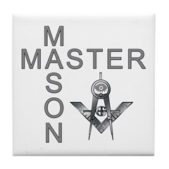 Master Masons Square and Compasses Tile Coaster