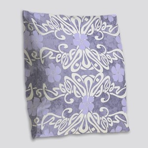 Periwinkle Pleasure Burlap Throw Pillow