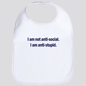 Anti-Social Blue Bib