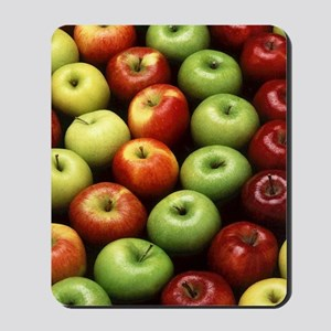 apples red green granny smith Mousepad