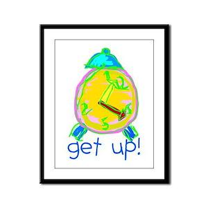 Kid Art Alarm Clock Framed Panel Print