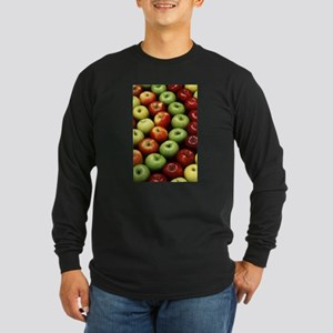 apples red green granny smith Long Sleeve T-Shirt