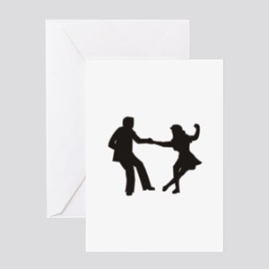 DANCING COUPLE Greeting Cards