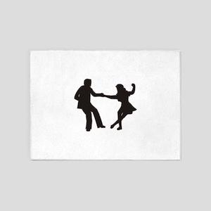 DANCING COUPLE 5'x7'Area Rug