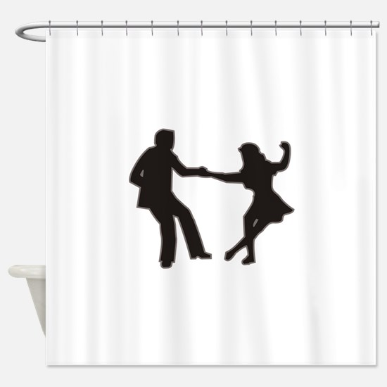 DANCING COUPLE Shower Curtain