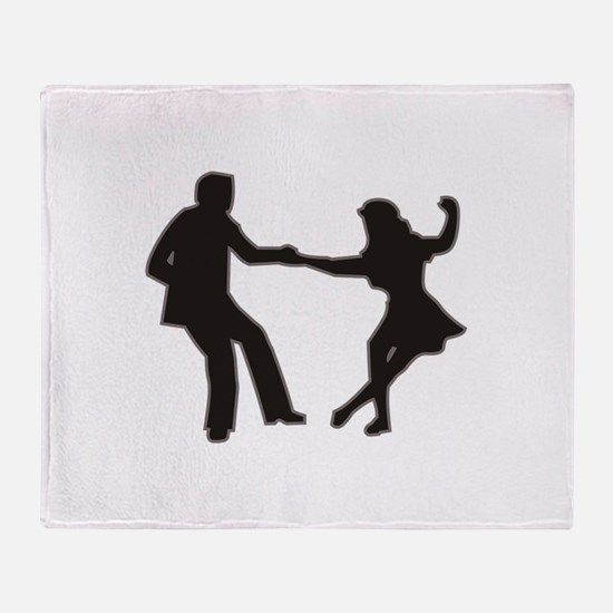 DANCING COUPLE Throw Blanket