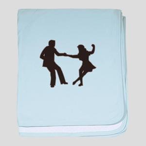 DANCING COUPLE baby blanket
