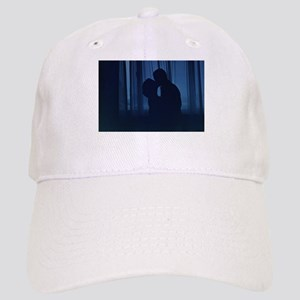 Blue silhouette couple kissing analogue film p Cap