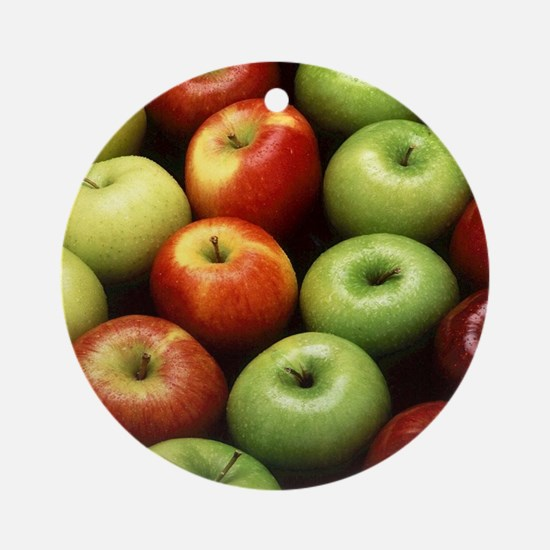 apples red green granny smith Ornament (Round)