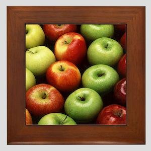 apples red green granny smith Framed Tile