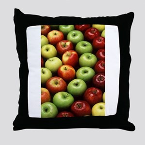 apples red green granny smith Throw Pillow