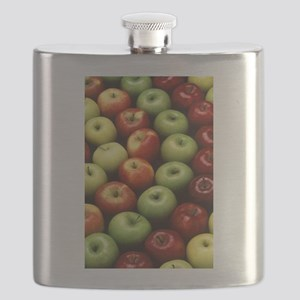 apples red green granny smith Flask