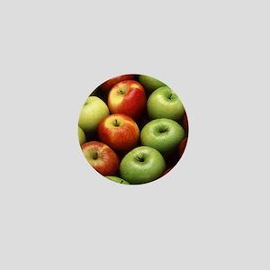 apples red green granny smith Mini Button