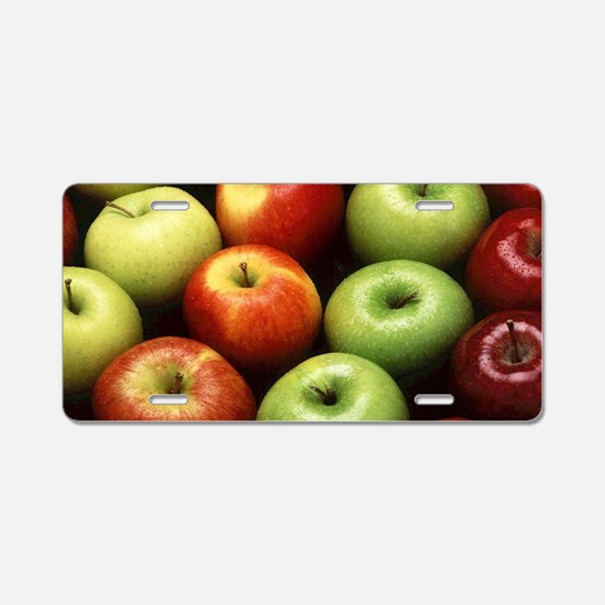 apples red green granny smi Aluminum License Plate