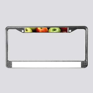 apples red green granny smith License Plate Frame