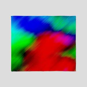 psychedelic rainbow art Throw Blanket