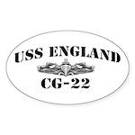 USS ENGLAND Sticker (Oval)