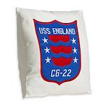 USS ENGLAND Burlap Throw Pillow