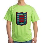 USS ENGLAND Green T-Shirt