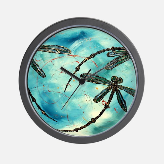 Unique Dragonfly Wall Clock