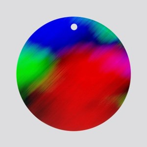 psychedelic rainbow art Ornament (Round)