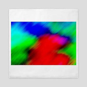 psychedelic rainbow art Queen Duvet