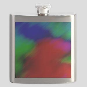psychedelic rainbow art Flask